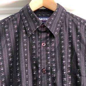 Men's Skull & Crossbones Long Sleeve Shirt Size S